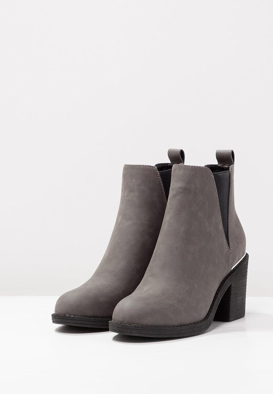 Even&Odd Botines de Mujer con Pieza Elástica - Botas con Tacón Bajo Hechas de Cuero de Imitación Ankle Boots con Detalles Metálicos: Amazon.es: Zapatos y ...