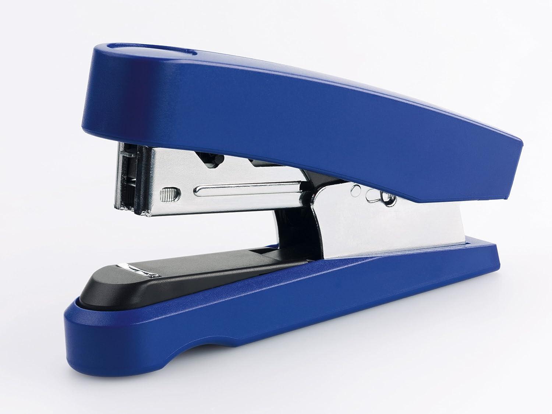 20 Blatt blau Novus B 10 FC Heftger/ät Professional Metall-Hefter mit Kunststoffoberteil, Flachheftung, inkl. 200 Heftklammern No.10 Super