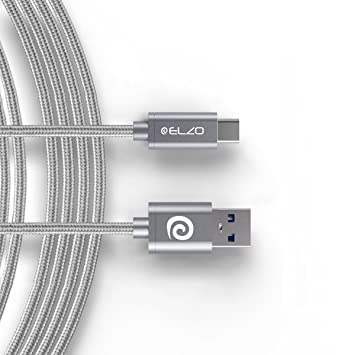 ELZO - Cable Tipo C USB Carga Rápida, 3A 6ft/1,8M Cable