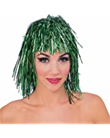 Green Tinsel Wig for St Patrick Day or Football Team