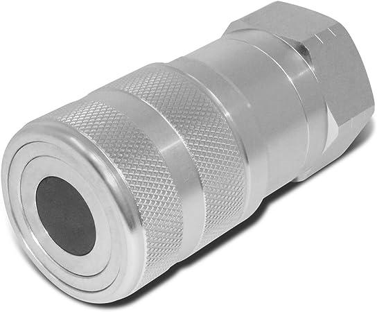 """cuerpo de 1/"""" 1-1//4/"""" SAE alto caudal cara plana Acoplador hidráulico conjunto de conexión rápida"""