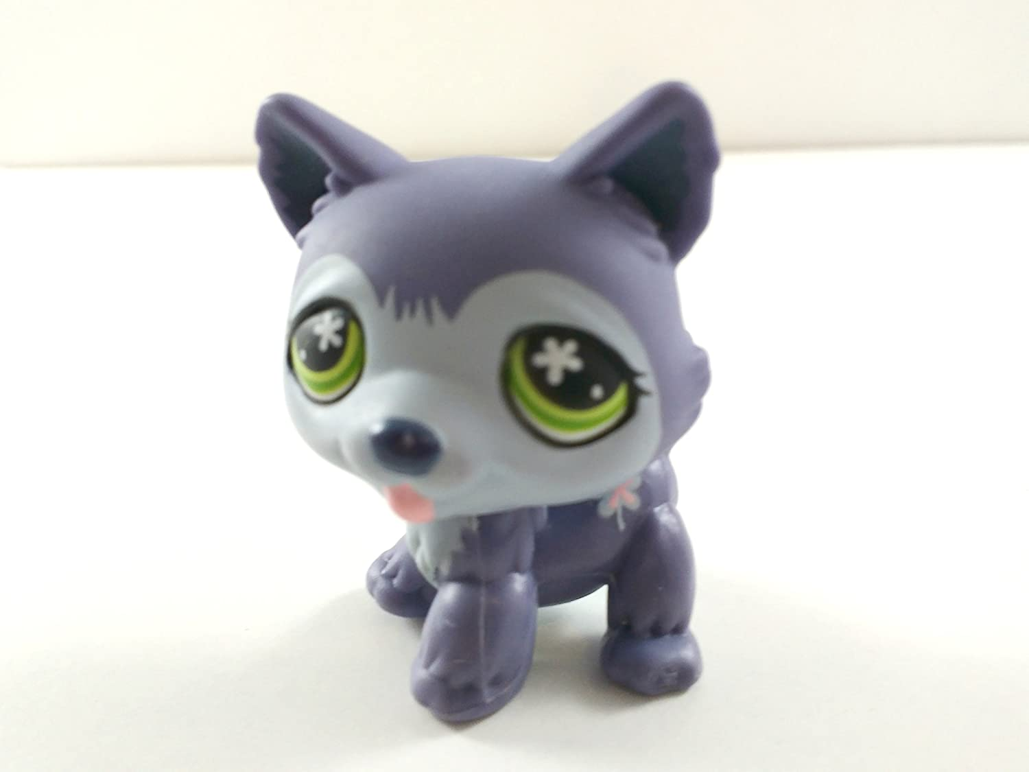 Blue, Green Eyes Collector Toy Loose Husky #487 LPS Collectible Replacement Single Figure - Littlest Pet Shop OOP Out of Package /& Print Retired