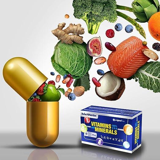 Vitaminas y Suplementos de Minerales vitamina C, vitaminas Grupo B y hierro anti cansancio y fatiga multivitaminico para mujer y hombre ayuda a mejorar el ...