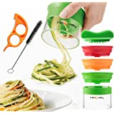 FabQuality Premium Espiralizador vegetal ESPECIAL VERANO Veggetti espiral Slicer Paquete completo (3 cuchillas)