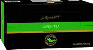 Sir Thomas Lipton Green Tea, Foil Wrapped Tea Bags, 100 Pieces, Smooth Green Tea