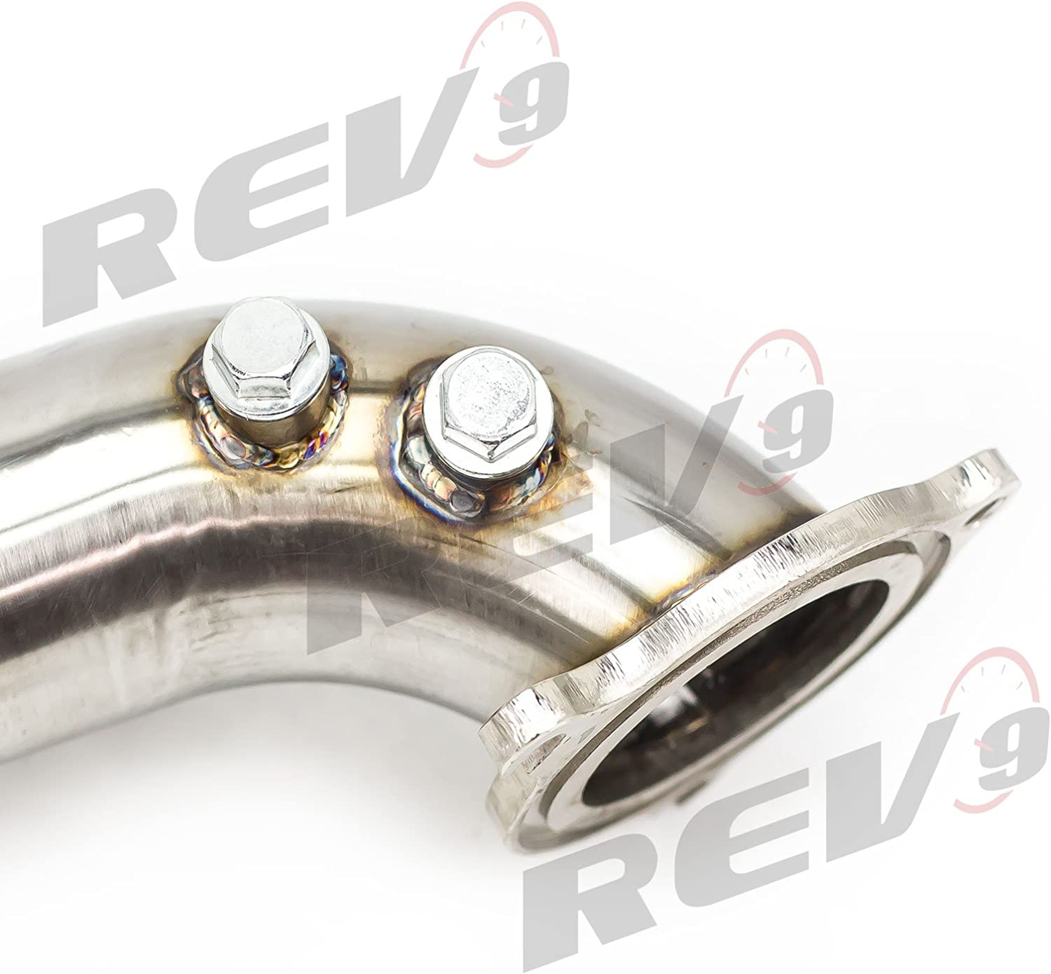 Rev9 3 Downpipe for 2014-2017 Ford Fiesta ST 1.6L Ecoboost Catless Flex Turbo Down pipe Stainless Steel