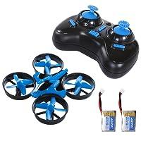 SGILE OVNI Mini Quadcopter Drone 2.4G 4CH 6 Axis Télécommande Sans Tête Bleu