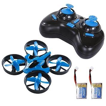 SGILE Mini Drone 2 Baterías Quadcopter RC 2.4G 4CH 6Axis ...