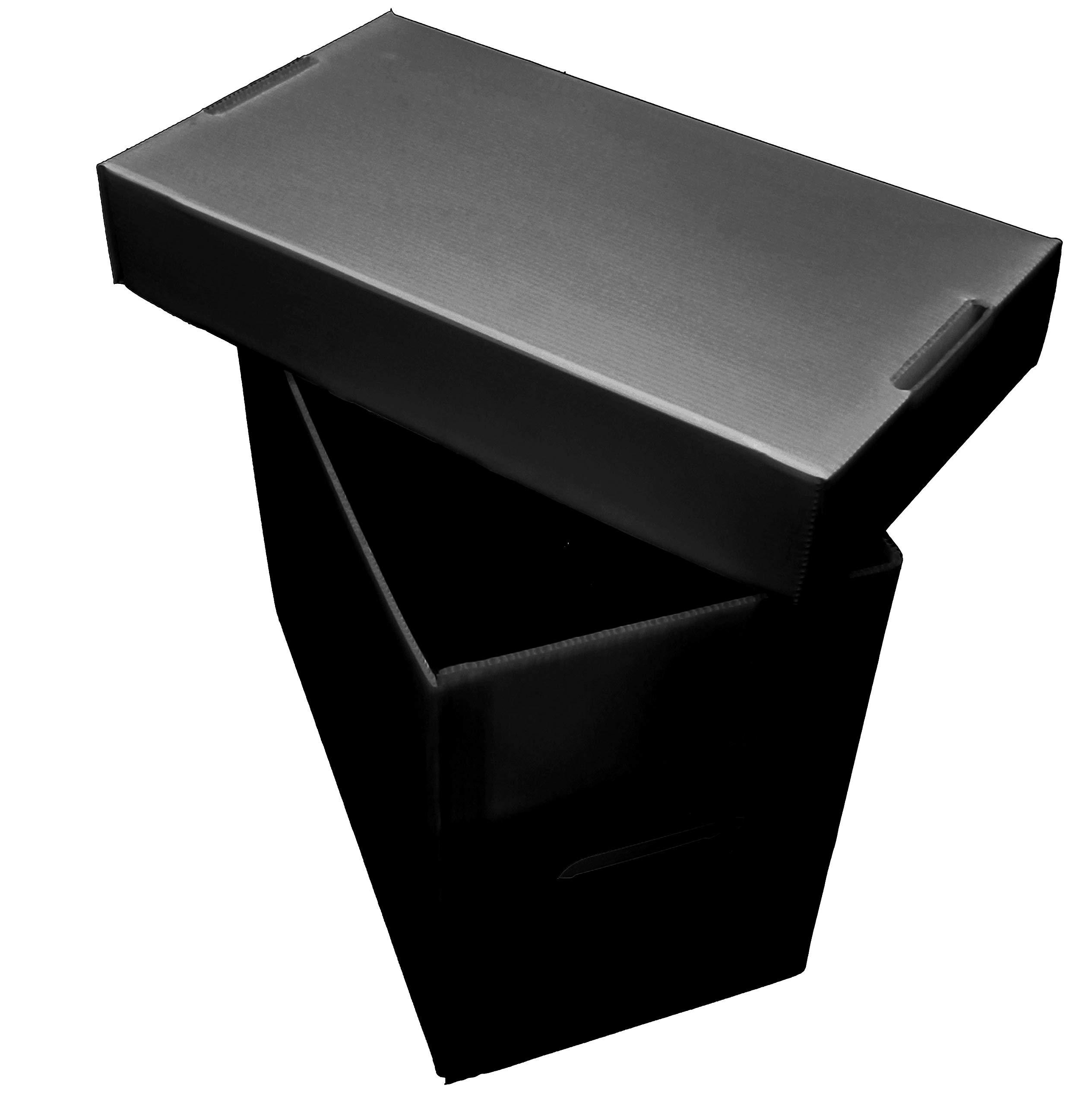Premium Plastic Graded CGX Comic Storage Box - Black - Holds 35-40 Comics - Archival Safe (10)
