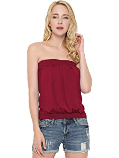 bc4afd80ef DJT Women s Tie Dye Sleeveless Stretchy Pleated Tube Top · 4.2 out of 5  stars 132 ·  13.98 -  19.99 · Maggie Tang Women s Strappy Pleated Camisoles  Basic ...