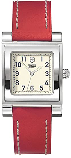 Amazon.com: Swiss Army Cavalier Square Ladies 24120 Strap Watch: Victorinox Swiss Army: Watches