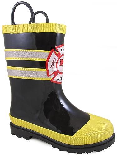 5d5a03f0c85 Amazon.com | Children's Smoky Mountain Fireman Rain Boots; (T - 5 ...