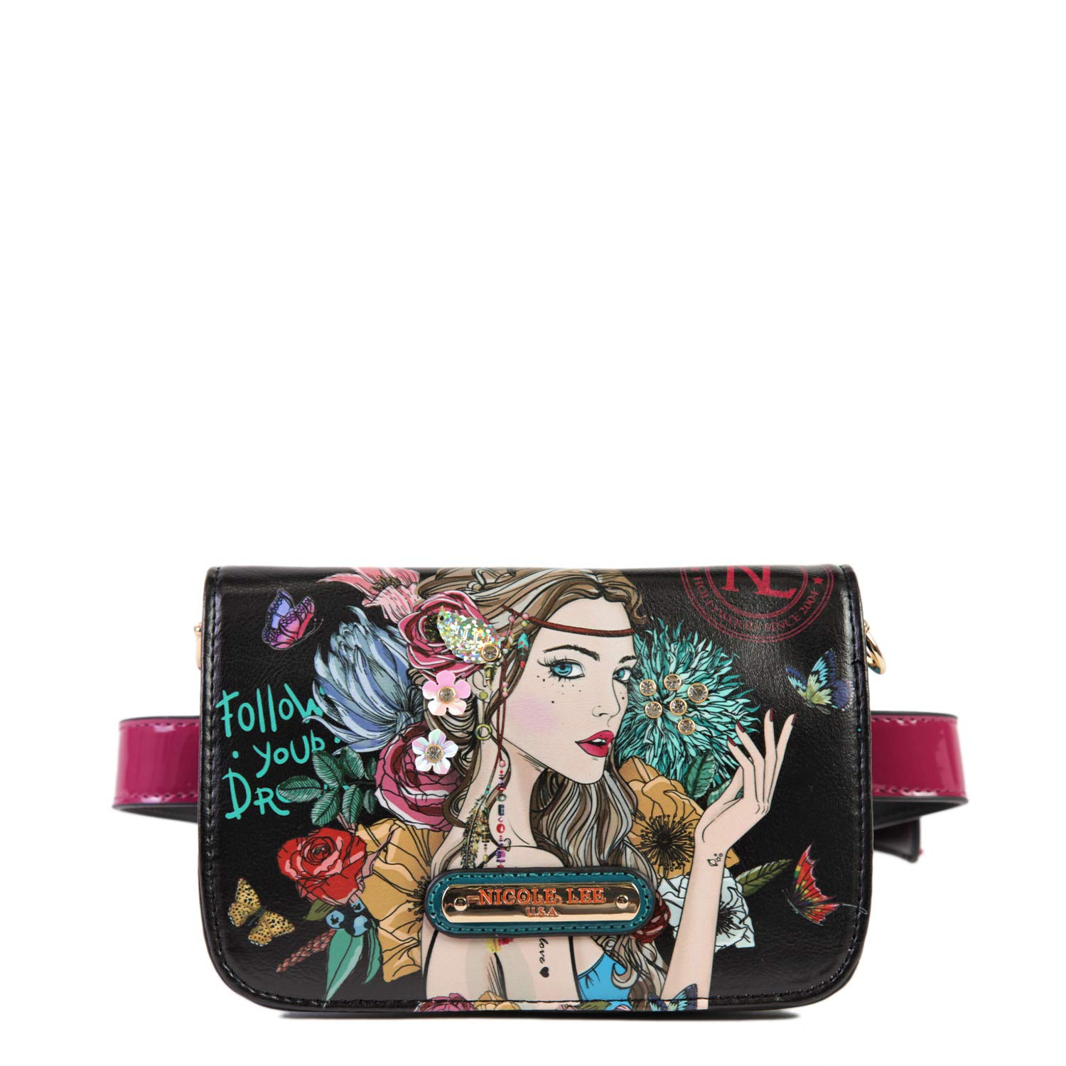 Bohemian Style Convertible Fanny Pack With Link Chain Strap