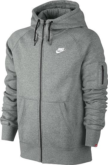 Nike Con la zip Felpa con la zip GREY HEATHER Uomo NI122H00M