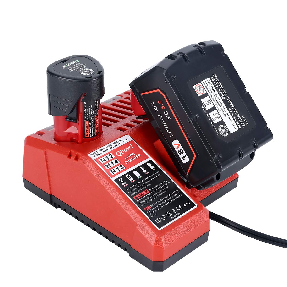 M12 & M18 Multi Voltage Lithium Ion Battery Charger for Milwaukee 48-59-1812 18V&12V Fuel Gauge XC Battery - - Amazon.com