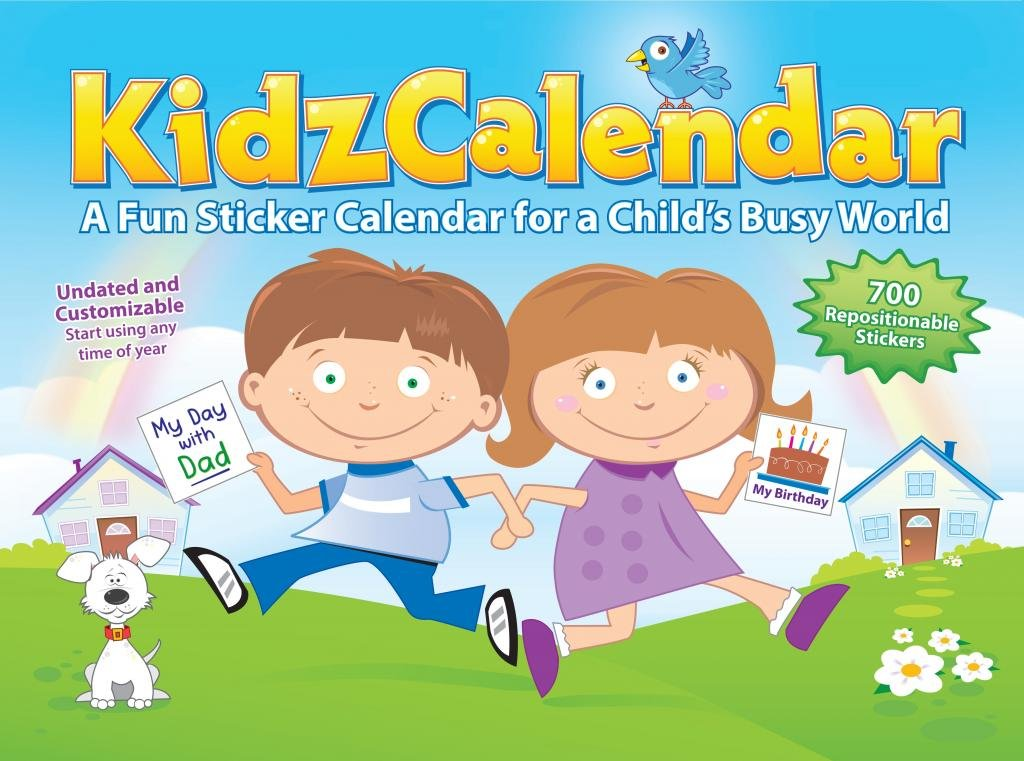 Children S Calendar With Stickers : Kidzcalendar a fun sticker calendar for childs busy