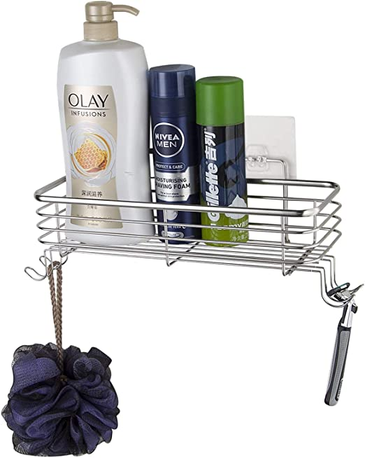 Bathroom Shower Head Storage Hanger Organizer Rack Soap Shampoo Razor Holder