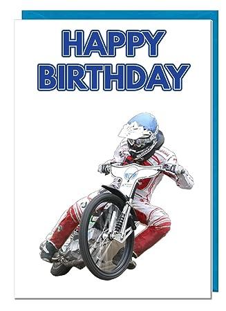 Geburtstagskarte Motorrad Speedway Motto Dad Mann Brother