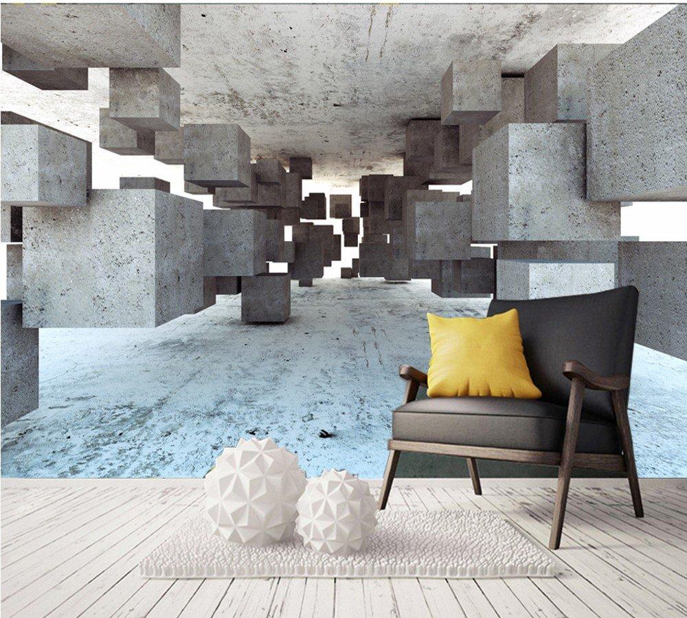 Weaeo Personalizado Mural Moderno Minimalista 3D Estéreo Cemento ...