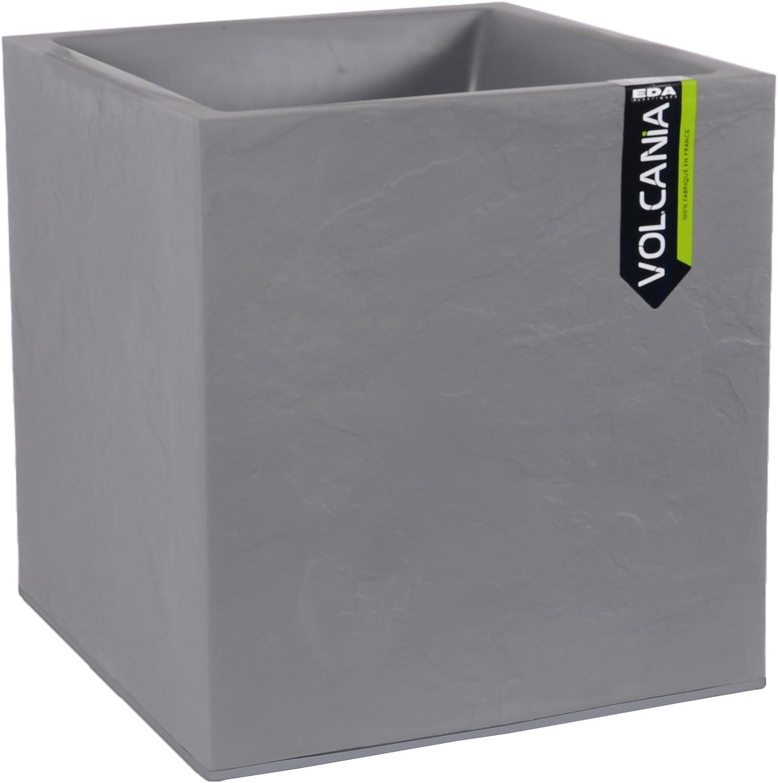 EDA Plastique Pot Graphit carr/é gris anthracite 39.5 x 39.5 x 43.5cm 31L