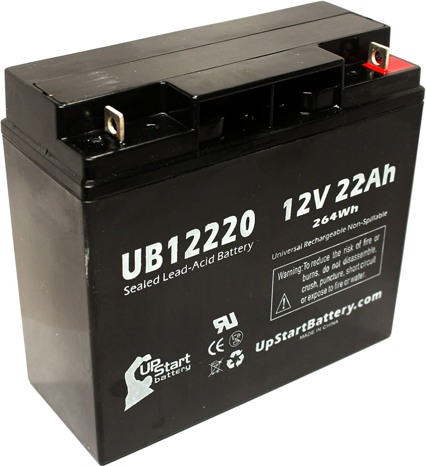 Replacement for SEALAKE FM12170 Battery - Replacement UB12220 Universal Sealed Lead Acid Battery (12V, 22Ah, 22000mAh, T4 Terminal, AGM, SLA)
