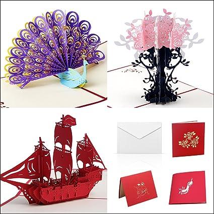 Amazon 3d Happy Birthday Cards Assortment Handmade Pop Up