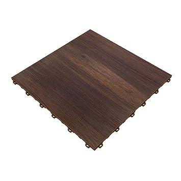 Amazoncom Swisstrax Dark Oak Vinyltrax Garage Floor Tile X - Traxtile flooring