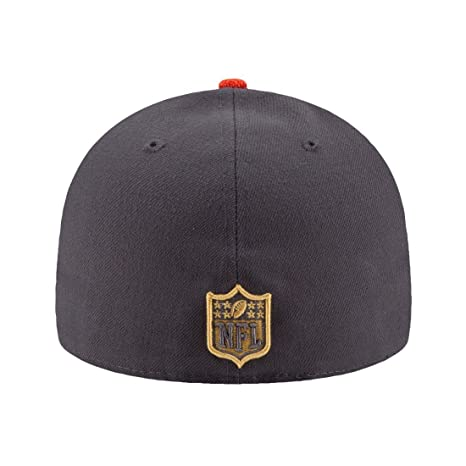 5133c62f84654a Amazon.com : New Era NFL Hat Cleveland Browns on Field Gold Collection  Football Black with Gold Cap (7 1/8) : Clothing