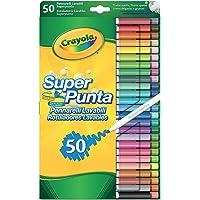 Crayola 7555 - 50 Rotuladores Súper Punta Lavables , color/modelo surtido