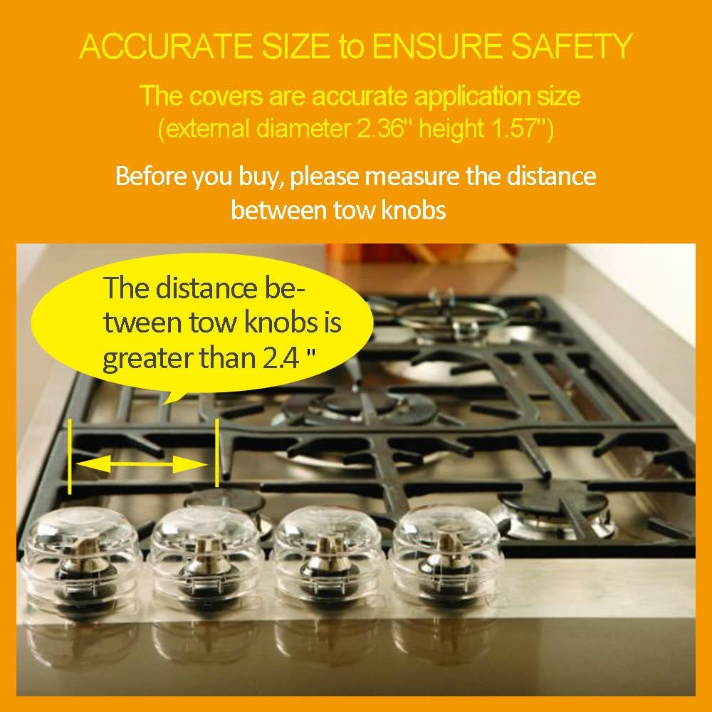 BabaMate Clear View Stove /& Oven Knob Covers New Care Baby Child Safety /& Kitchen Tools-Safety Heat-Resistant Material and Accurate Size to Ensure Safety-4 Count