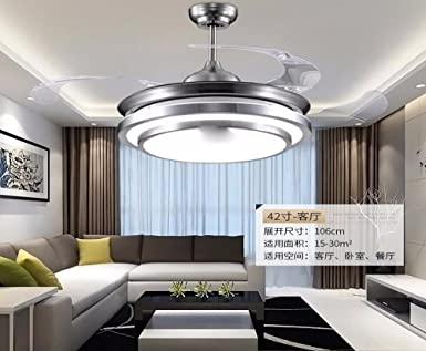 Sdkky invisible deckenleuchte fan lamp bedroom restaurant home