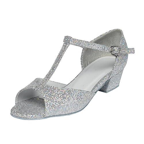 Tappers & Pointers Chelsea - Zapatillas de Danza para niño Plateado Plata