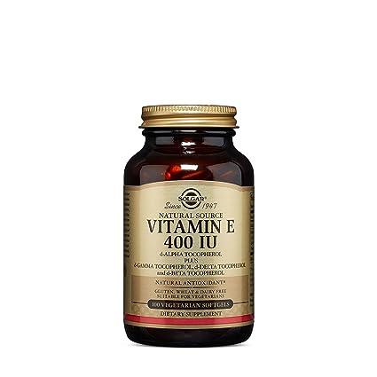 Solgar Vitamina E 268 mg (400 UI) Cápsulas vegetales blandas - Envase de 100