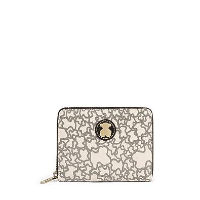 Tous Kaos Mini - Monedero para Mujer, Beige, 13 x 11 x 2 cm