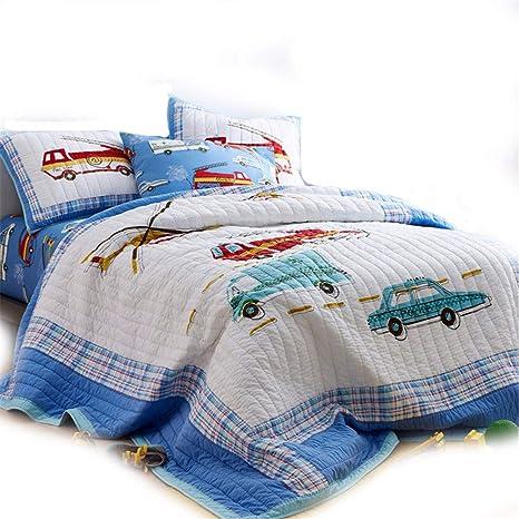 LMXJB Azul Serie Patchwork Tren Y Estampado De Coches Diseño ...