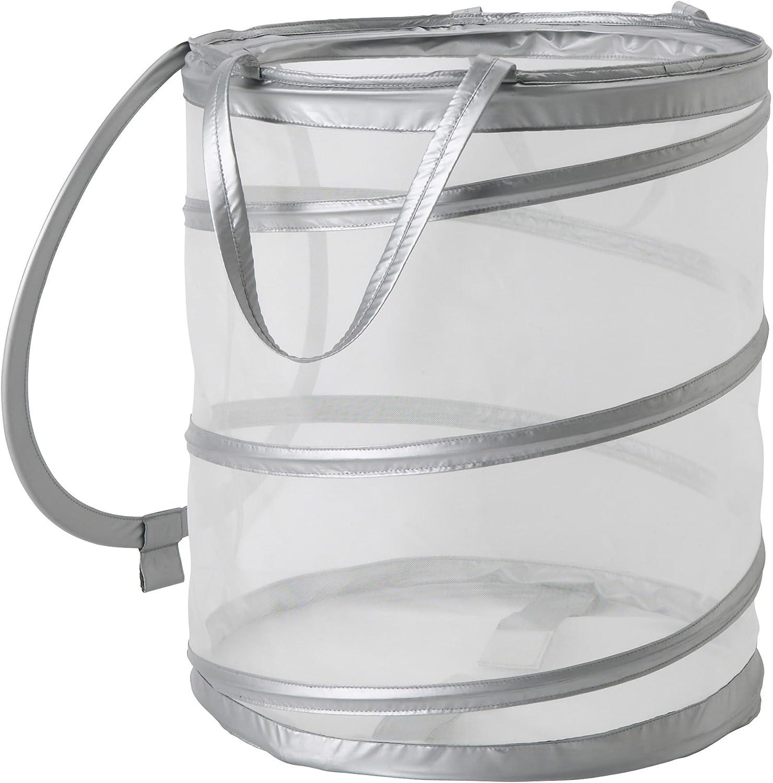"""Ikea FYLLEN 800.992.24 Laundry basket, gray, Diameter: 17¾"""", Height: 19¾"""", Volume: 21 gallon"""