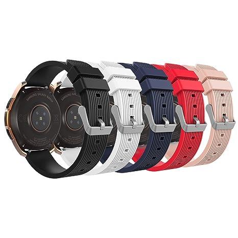 MoKo Pulsera para Samsung Galaxy Watch 42mm/Galaxy Watch Active/Galaxy Gear S2 Classic