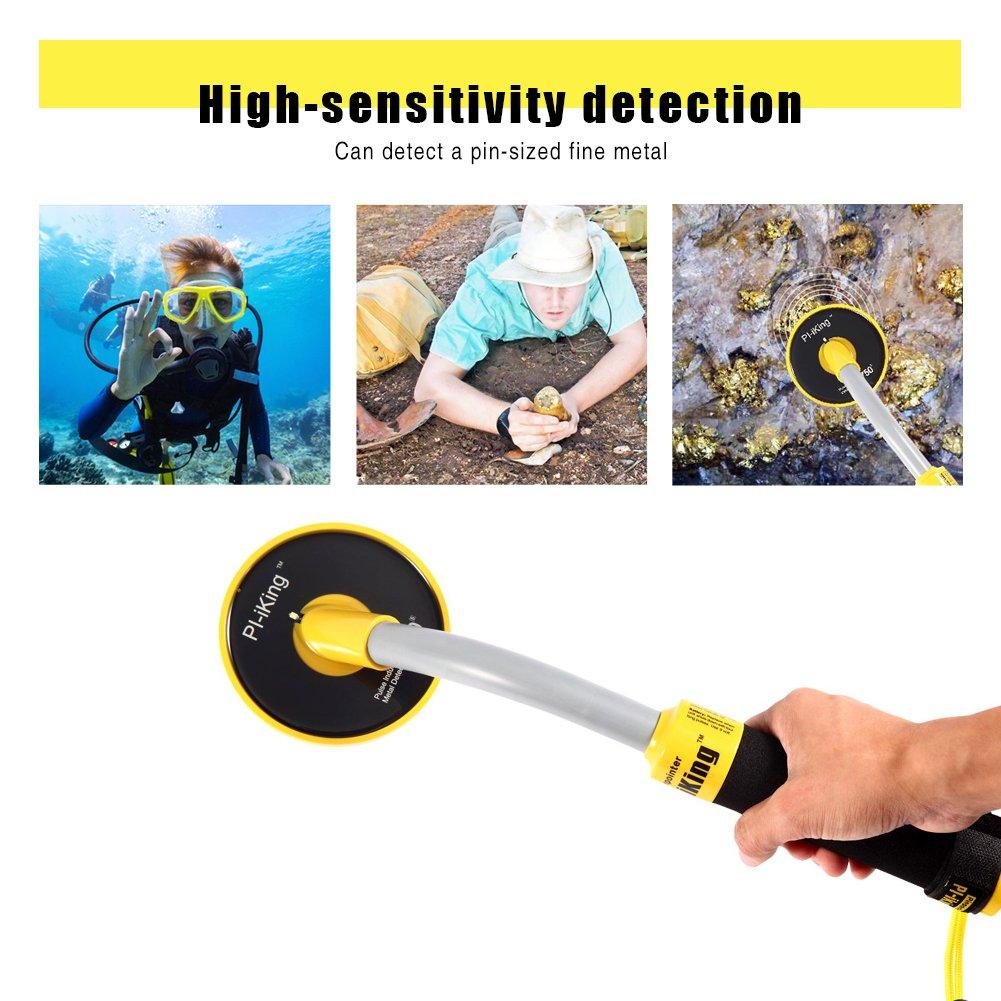 HUKOER PI-iKing 750 Detector de metales completamente resistente al agua hasta 30M con LED de vibración PinPointer Inducción de pulso: Amazon.es: Jardín