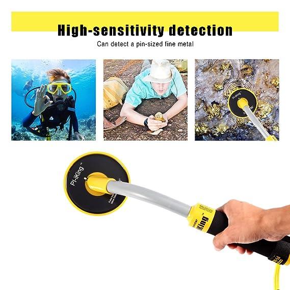 HUKOER Detector de Metales PI-IKing Inducción de impulsos 750 Alta sensibilidad 30M Detector de Metales Totalmente Impermeable con LED de vibración: ...