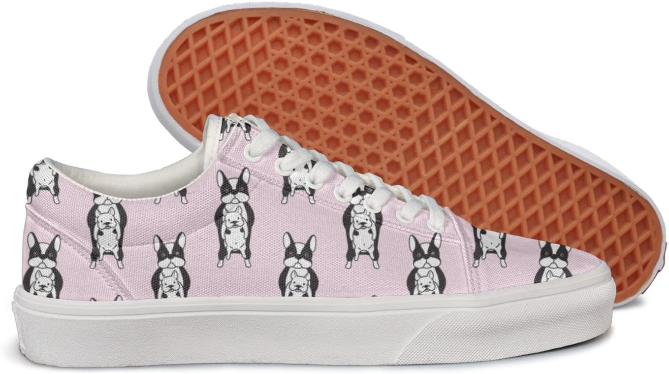 gxxiishow A French Bulldog Family Personalized Canvas Mens Casual Low Sneaker Shoes