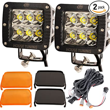 Swell Amazon Com House Tuning Off Road Led Lights 60W Spot Beam With Wiring 101 Capemaxxcnl