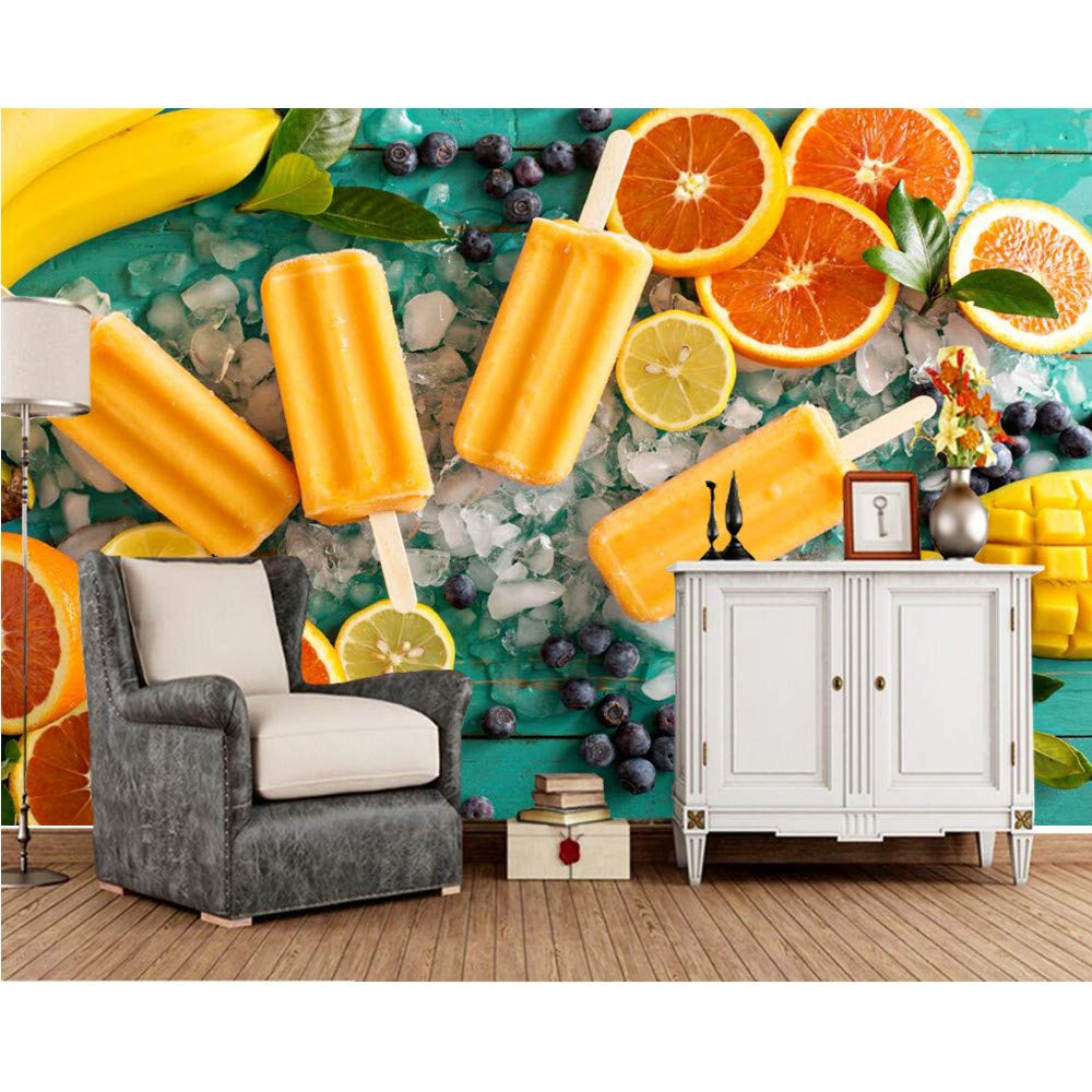 Xbwy, Dulces Helado Fruta Naranja Comida Papel Tapiz Fotográfico ...