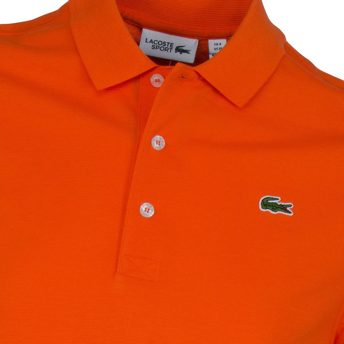 Polo Lacoste L1230 00 p40 orange bouee cotone elasten regular ...