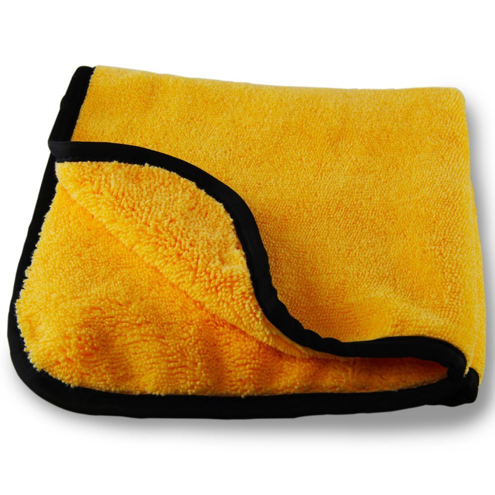 bbnmore Professional Grade Premium Microfiber Towels, Gold (16 in. x 16 in.) (Pack of 6)