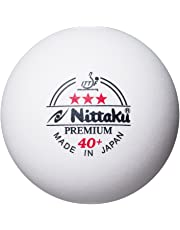 Nittaku Premium 3 Star Table Tennis Balls - White (Pack of 3)
