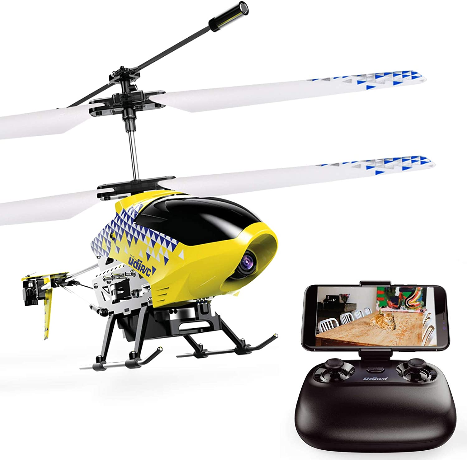 Amazon.com: Cheerwing U12S Mini RC Helicopter with Camera Remote Control Helicopter for Kids and Adults: Toys & Games