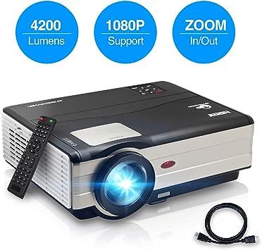 Nuevo video proyector 2020 LCD LED 4200 lúmenes Wxga HD Home Movie ...