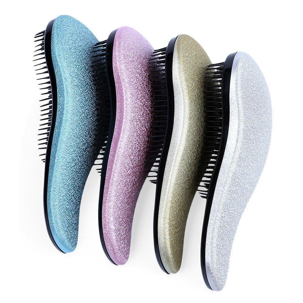 Detangling Hairbrush Comb- Glide Through All Types of Natural & Tangled Hair - Dry & Wet Hair Brush- Gold Sparkle Hair Detangler Brush - For Kids, Women, Men (Gold) by Outopest (Image #5)