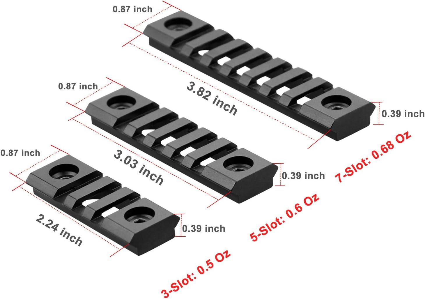 5 Slot 2 Keymod Rail Section Picatinny Rail for Key Mod Handguard Mount Rail System