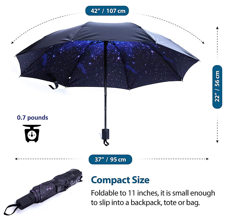 Lightweight Sun Rain Umbrella for Men Women and Kids Windproof Folding Compact Umbrellas with Multiple Colors BESTFUN Travel Umbrella